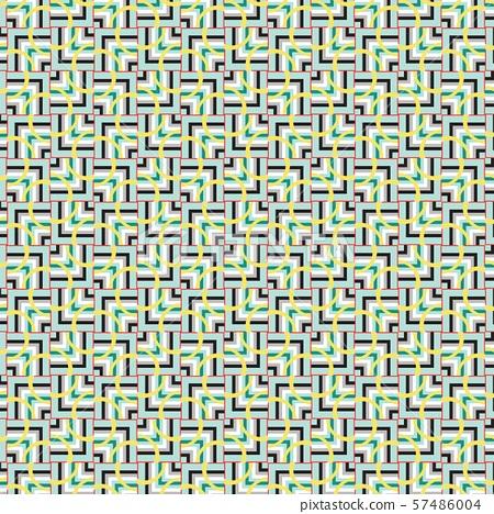 Vintage geometric pattern in retro 80s style. Textile fashionable retro design. 57486004