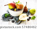 Pears on a bowl 57486462