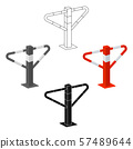 Parking construction barricade icon in cartoon,black style isolated on white background. Parking 57489644
