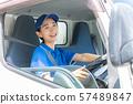 女性司機卡車交付企業圖像 57489847