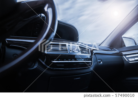 car interior with shallow depth of field 57490010