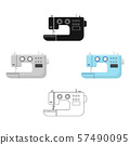 Electric sewing machine. Sewing and equipment single icon in cartoon,black style vector symbol stock 57490095