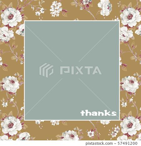 優雅的手繪水彩花卉和牆紙設計 57491200