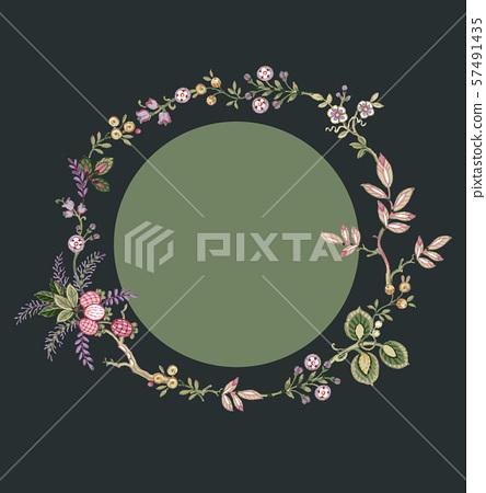 美麗的裝飾花卉和包裝設計 57491435