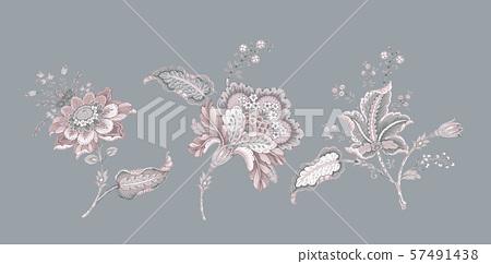 美麗的裝飾花卉和包裝設計 57491438