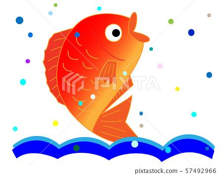 新鮮的海鯛 57492966