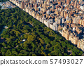 Aerial view of Manhattan and Central Park 57493027