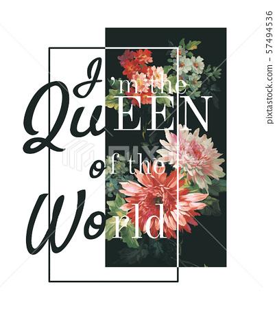 美麗的手繪水彩大花海報設計 57494536