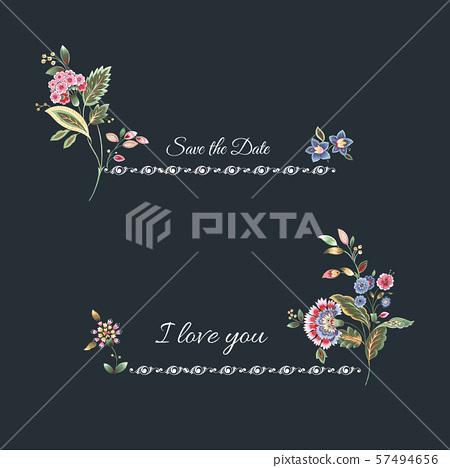 美式花卉設計和紡織圖案設計 57494656