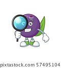 Detective acai berries cartoon character for health 57495104