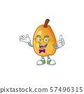 Geek sweet fragrant pear cartoon on white background 57496315