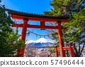 《Yamanashi Prefecture》 Mt. Fuji and Torii / Arakurayama Asama Park 57496444