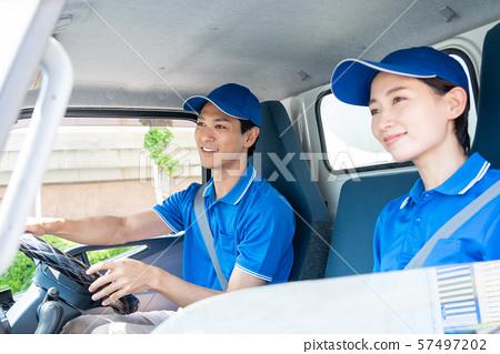 司機卡車交付業務交付業務圖像 57497202