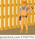 Worker in special clothes. Vector flat illustration. 57497701