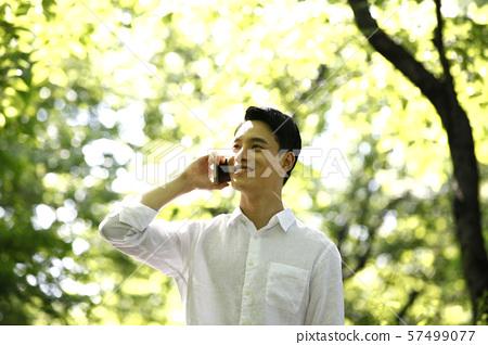 청년,라이프스타일,숲배경 57499077