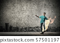 Teenager boy on skate 57501197