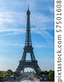 Eiffel Tower and Blue Sky 57501608
