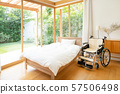 Nursing facility, wheelchair, hospital room, medical image 57506498
