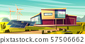 Renewable energy for house cartoon concept 57506662