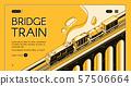 Bridge train isometric web page template 57506664