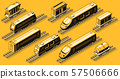 Railroad industry elements isometric set 57506666