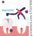 Dentist Man Working on Stomatology Tooth Disease 57507906