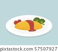 Omelette rice 57507927