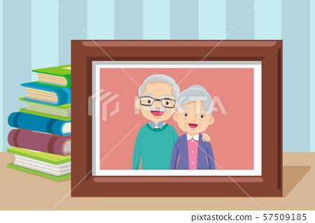 Grandmother and grandfather together in ppgoto 57509185