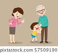 grandparents and grandchildren.Grandson give a 57509190