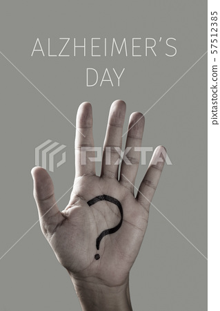 question mark and text world alzheimers day 57512385