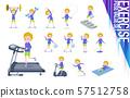 flat type blond hair boy White_exercise 57512758
