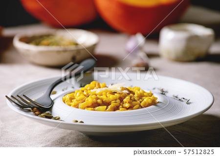Traditional pumpkin risotto 57512825