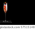 Elegant glass of pink rose champagne with 57515148