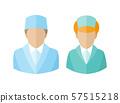 Medical icons. Doctor and nurse avatars. vector illustration 57515218