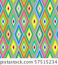 Seamless vector geometric rhombus color pattern background 57515234