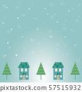 눈이 내리고 겨울의 거리의 일러스트 57515932