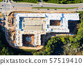 Aerial view top to bottom apartments construction in Atlanta Suburbs 57519410