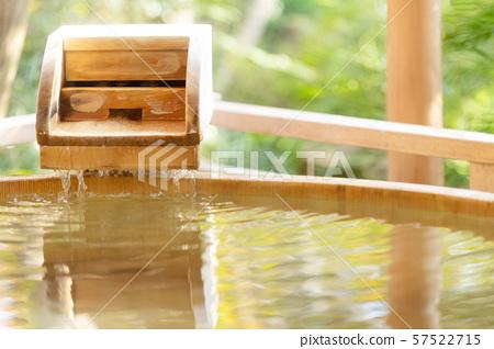 戶外浴室日式溫泉形象 57522715
