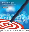 red dartboard center goal. strategy achievement 57524730