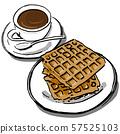 필기 커피와 와플 57525103