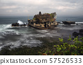 Tanah Lot, a temple of a rock among the rough sea, Bali, Indonesia 57526533