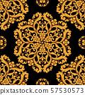 Seamless damask pattern background. Vector illustration. 57530573