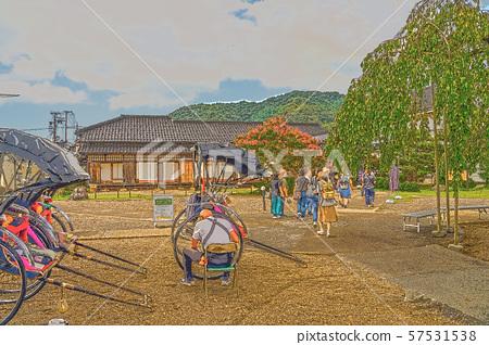 이즈시 성 마을 일러스트 마무리 57531538