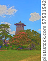 Izushi城堡城堡鎮例證結束 57531542