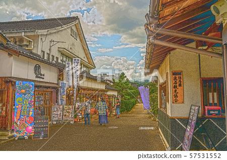 이즈시 성 마을 일러스트 마무리 57531552