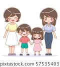 家庭插圖/女同性戀 57535403