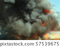 fire smoke flame burn accident disaster background 57539675