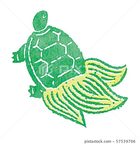 烏龜郵票漢科綠色傳染媒介 57539706