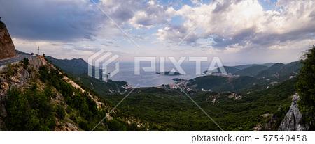 Budva riviera coastline. Montenegro, Balkans, 57540458