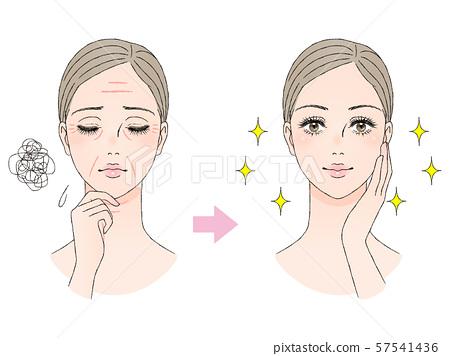 美容圖像皺紋 57541436